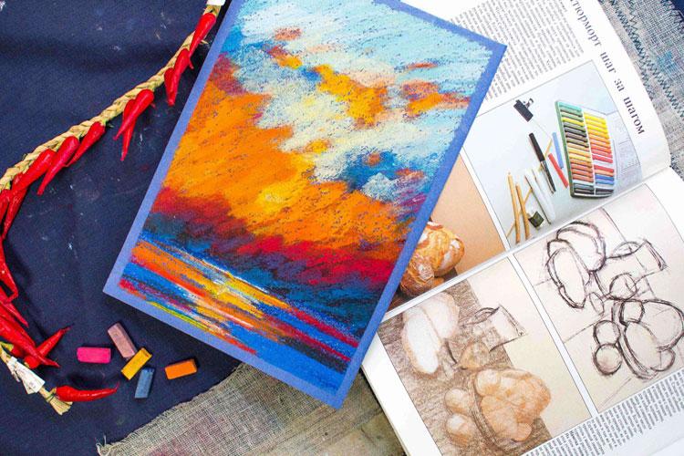 Техника рисования сухой и масляной пастелью