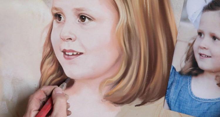 Как рисовать портрет пастелью?