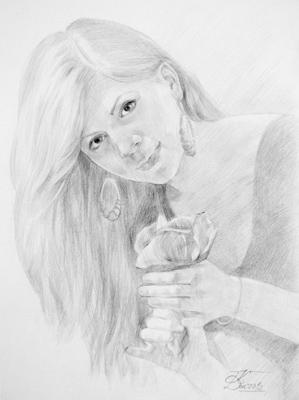 портрет, рисунок карандашом, портрет карандашом, уроки рисования