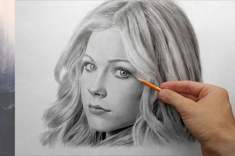Как рисовать портрет простым карандашом