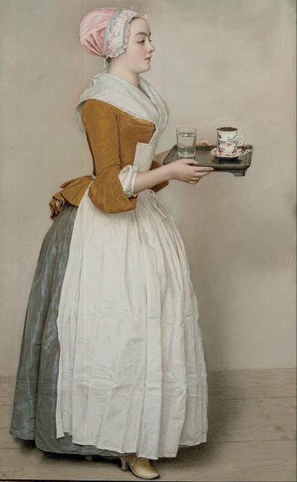 шоколадница, Жан-Этьен Лиотар, известная картина, Дрезденская галерея