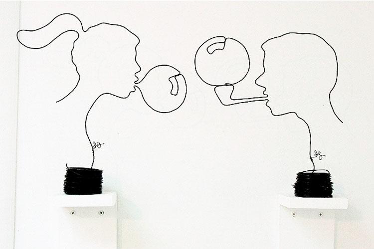 Эксцентричные проволочные скульптуры. Часть 1