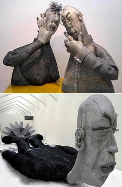 скульптура, скульптура из проволоки, художник, юко хишияма, yuko hishiyama