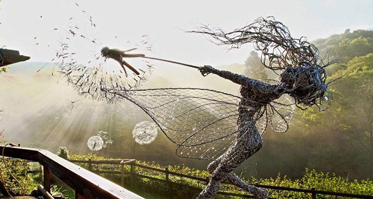 Изящные скульптуры из проволоки