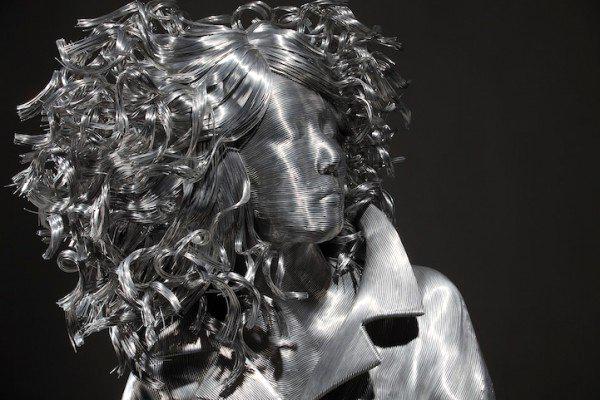 скульптура, скульптура из проволоки, проволока, художник