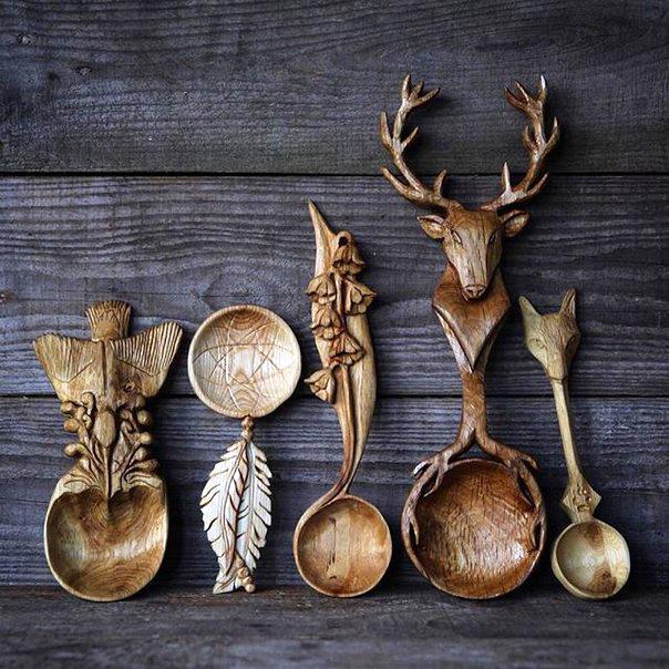 деревянные ложки, ложка, резьба, дерево, Джайлс Ньюман, Giles Newman