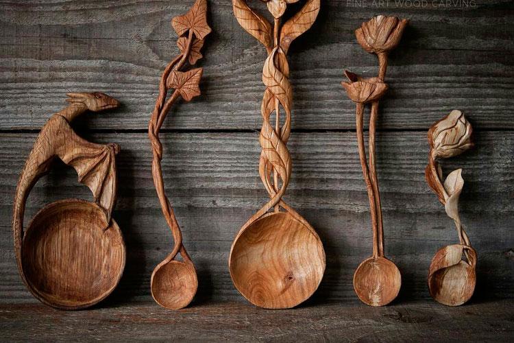 Фигурные деревянные ложки Джайлса Ньюмана