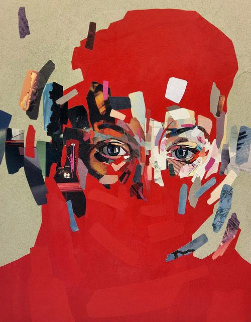 Patrick Bremer, иллюстрация, иллюстратор, патрик бремер, коллаж, художник, картина, портрет, цветная бумага, бумага, поделки из бумаги, поделки