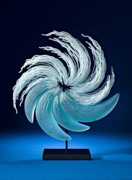скульптура, скульптура со стекла, вода, художник, вилиам лекваер