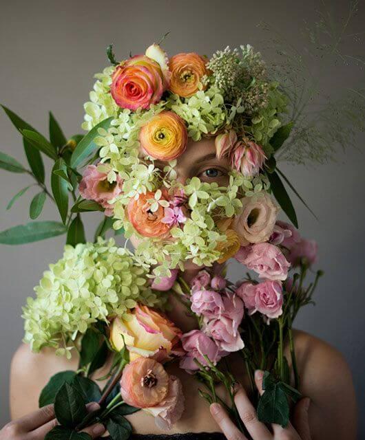 kristen hatgi, кристен хаджи, цветы, фото, портрет, девушки, фотограф, флорист, флористика, красивые картинки, художник, лирика, романтика, романтизм