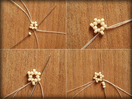 поделки, поделки из бисера, цветы, цветы из бисера, бисер, хендмейд, хенд мейд, handmade, ручная работа, своими руками, кулон, кулон из бисера