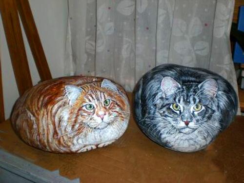 кот, кошка, роспись, роспись на камнях, декор, домашний декор, живопись, живопись на камнях, искусство, красота, хендмейд