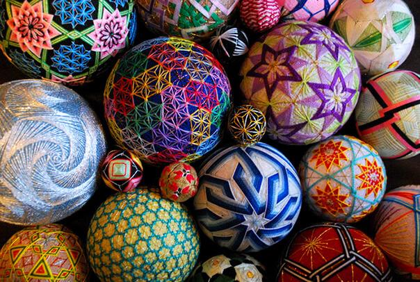искусство, вышивка, декоративное искусство, японское искусство, темари, клубок, национальные традиции, япония