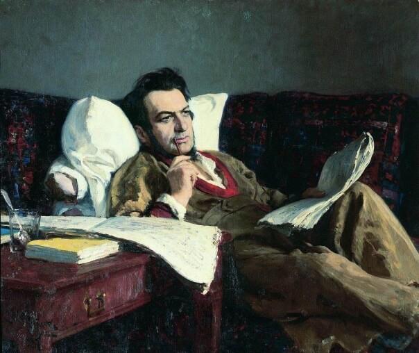картина, композиция, композиция картины,, репин, илья репин, мужской портрет