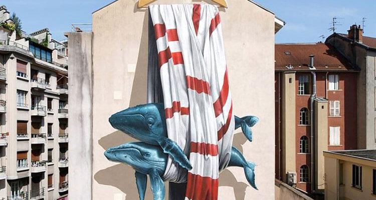 Уличные художники и modern art