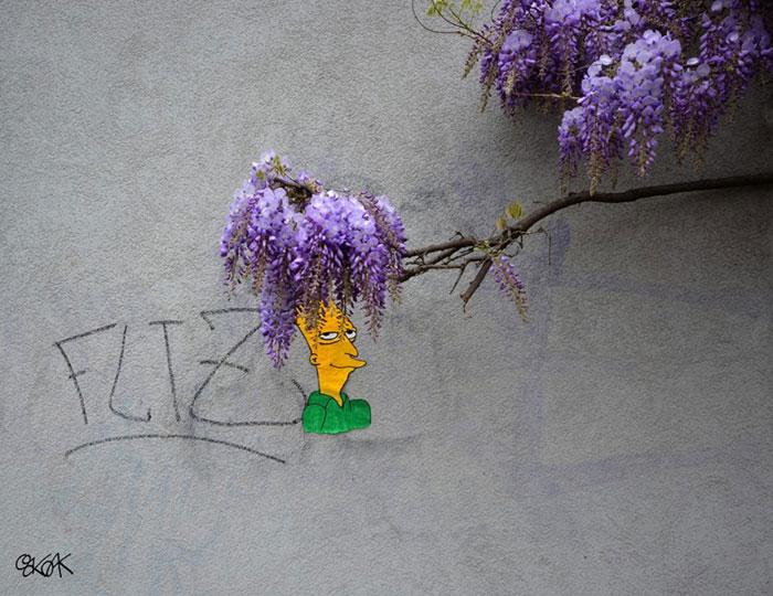 стрит арт, художник, oakoak, поп арт, граффити, мурал, роспись стены, искусство, уличное искусство, иллюстрация